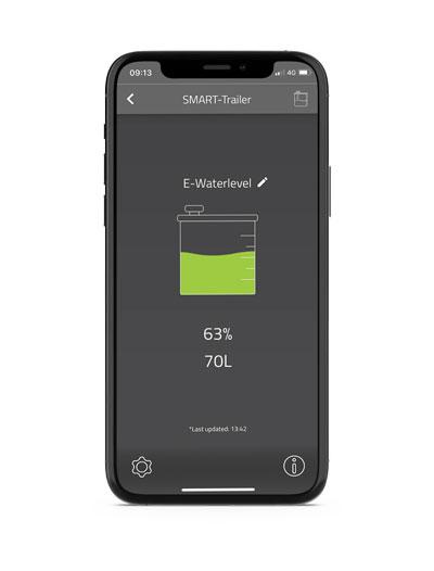 E-Waterlevel in E-Trailer app