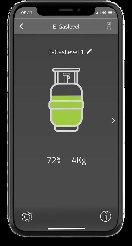 E-Gaslevel in E-Trailer app