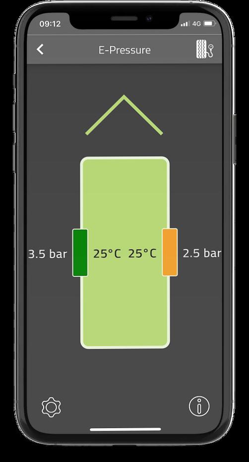 E-Pressure in E-Trailer app