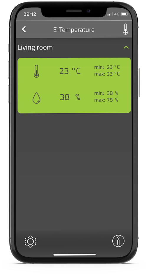 E-Temperature in E-Trailer app