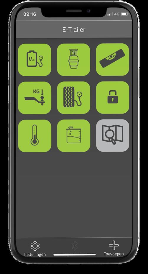 E-Trailer app overzicht